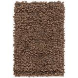 Lawn 2' x 3' Shag Shag Plush Solid Camel/Dark Brown Area Rug - Hauteloom