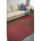 Avella 9' x 13' Floral and Paisley Transitional NZ Wool Blue/Burgandy/Dark Brown Area Rug - Hauteloom