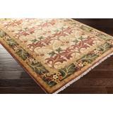 Corbridge 2' x 3' Traditional Handmade Traditional Persian Wool Beige/Dark Brown/Dark Red/Peach Area Rug - Hauteloom