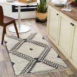 Brownhills 6' x 9' Cotton Black/Cream Area Rug - Hauteloom