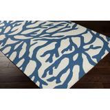 "Blawenburg 3'3"" x 5'3"" Coastal Transitional Wool Dark Blue/Ivory Area Rug - Hauteloom"