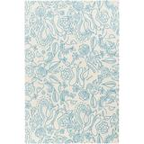 """Middleburgh 5' x 7'6"""" Kids Contemporary Abstract Wool Sky Blue/Cream Area Rug - Hauteloom"""
