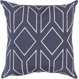 """Christchurch 18"""" x 18"""" Traditional Navy/Ivory Pillow Cover - Hauteloom"""
