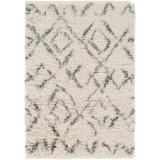 Cotgrave 2' x 3' Bohemian/ Shag Moroccan Farmhouse NZ Wool Cream/Dark Green Area Rug - Hauteloom