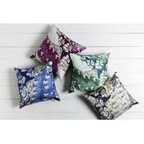 "Kinta 22"" x 22"" Silk Dark Blue/Ivory/Light Beige/Navy/Seafoam/Sky Blue Pillow Cover - Hauteloom"