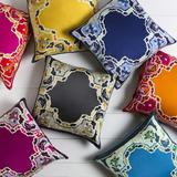 "Rago 20"" x 20"" Silk Aqua/Blue/Dark Blue/Ivory/Light Beige Pillow Cover - Hauteloom"