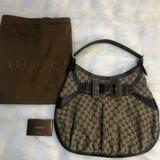 Gucci Bags | Gucci Gg Supreme Canvas Bow Shoulder Bag | Color: Brown/Tan | Size: Os