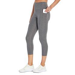 Bally Total Fitness Damen High Rise Pocket Mid-Calf Legging, Damen, Caprihose, High Rise Pocket Mid-Calf Legging, kohleschwarz meliert, Medium