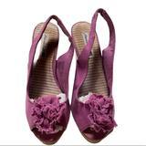 American Eagle Outfitters Shoes   American Eagle Peeptoe Wedge Heels   Color: Purple   Size: 7