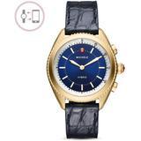 Navy Alligator & Silicone Strap Hybrid Smartwatch - Blue - Michele Watches