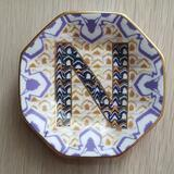 Anthropologie Accents   Anthropologie   Monogram Trinket Dish - Letter N   Color: Gold/Purple/White/Yellow   Size: Os