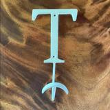 Anthropologie Other | Anthropologie Metal Letter Hook - T | Color: Cream | Size: Os