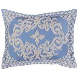 Florence Collection in Medallion Design, Standard Sham by Better Trends in Blue (Size STANDARD)