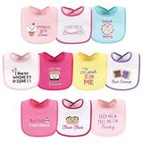 Hudson Baby Unisex Baby Cotton Terry Drooler Bibs with Fiber Filling, Girl Ice Cream, One Size