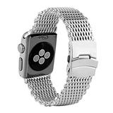 42MM Durable Watch Strap for Watch Series 1/2/3/4 Generation, Classic Silver Stainless Steel Watch Strap, Practical Waterproof Replacement Watches Strap for i Watch