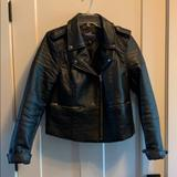 American Eagle Outfitters Jackets & Coats | American Eagle Faux Leather Moto Jacket | Color: Black | Size: L
