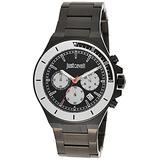 Just Cavalli Fashion Sport Gents 3 Hands Quartz Watch - Black Stainless Steel case and Bracelet and Black dial - JC1G139M0075