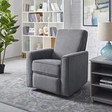 Classic Brands Memphis Upholstered Swivel Reclining Glider Chair, Grey