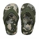 Coralup Boys Camo Dinosaur Beach Sandals Backstrap Flip Flops Sling Back Water Shoes 7M