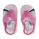 Coralup Girls Pink Unicorn Beach Sandals Backstrap Flip Flops Sling Back Water Shoes 8M