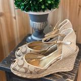 Coach Shoes | Coach Wedge Espadrilles | Color: Red | Size: 8