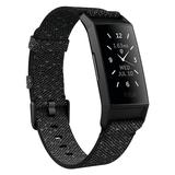 Fitbit Charge 4 Fitness & Activity Tracker with Special Edition Reflective Woven Band, Grey