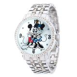Mickey and Minnie Mouse Silver Alloy Watch for Women - Official shopDisney®