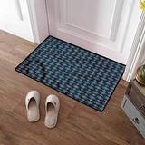 Custom&blanket Indoor Door Mat Oriental Kitchen Floor Rug Front Door Mat Ornate Floral Arrangement Doormat Door Mat Rug Outdoor/Indoor 20x32 inches