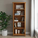 """Alcott Hill® Mccoppin 70"""" H x 30"""" W Standard Bookcase Wood in Yellow/Brown, Size 70.0 H x 30.0 W x 14.0 D in 