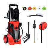 Costway 3000 PSI Electric High Pressure Washer With Patio Cleaner -Red