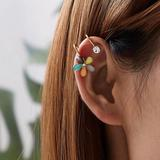 Urban Outfitters Jewelry   3$30 Multi Color Flower Ear Cuff   Color: Gold   Size: Os
