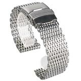 18/20/22/24mm Stainless Steel Milanese Shark Mesh Watches Band Strap Bracelet, Replacement Wrist Bracelet, Replacement Wrist Bracelet