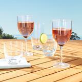 Classic Acrylic Wine Glasses, Set of Six - Cobalt - Frontgate