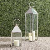 """Quincy Lantern - Stainless Steel, 45"""" Stainless Steel - Frontgate"""