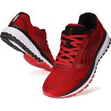 JOOMRA Mens Tennis Shoes Arch Supportive Trail Running Sneakers Red Size 9.5 Tenis para Hombres Lace Cushion Man Fashion Runner Walking Jogging Breathable Sport Footwear 43