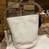 Michael Kors Bags | Michael Kors Bucket Bag & Large Pompom Charm | Color: Black/White | Size: Os