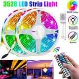 Led Strip Lights 32.8ft 10m Color Changing Non Waterproof LED String Lights with 3528 SMD RGB 600 LED s Light Strips and 44 Keys IR Remote 12V Power Supply for Home, Bedroom, Kitchen,DIY Decoration
