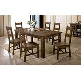 William's Home Furnishing Kristen Dining Table, Rustic Oak