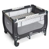Costway Portable Baby Playpen with Mattress Foldable Design-Gray