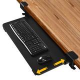 Costway Keyboard Tray Under Desk Clamp-On Retractable Platform Computer Drawer