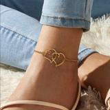 Urban Outfitters Jewelry   3$30 Double Heart Anklet   Color: Gold   Size: Os