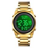 CKE Men's Digital Watch Waterproof Watches for Men with Stainless Steel Band