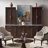 """Hunter Modular Collection in Mocha - 28"""" Top Cabinet with Glass Doors - Frontgate"""