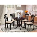 Andover Mills™ Artin Solid Wood Dining Set Wood in Brown, Size 29.0 H in   Wayfair 8575339CEF244542BF81D1C548935C05