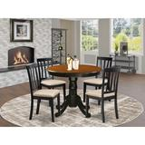 Andover Mills™ Artin Solid Wood Dining Set Wood in Black/Brown, Size 29.0 H in | Wayfair FC763E87A11A47359724983B073F6218