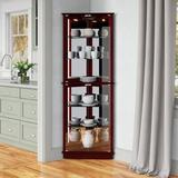 Andover Mills™ Woen Lighted Curio CabinetWood in Brown, Size 72.0 H x 26.0 W x 13.0 D in   Wayfair ANDO7561 37932297