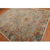 Old Hand Made Henderson Floral Traditional Persian Oriental Woolen Area Rugs (5'x8')