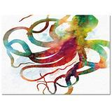 Libaoge Area Rugs 2'x3' Anti-Skid Carpet Runner with Rubber Backing Multi-Color Rug for Bedroom Playroom/Tile Hardwood Floors, Washable Area Rugs- Colorful Abstract Kraken Octopus Mythical Monster