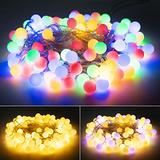 33 Feet 100 Led Mini Globe String Lights, USB Fairy String Lights Plug in, 8 Modes with Remote, Decor for Indoor Outdoor Party Wedding Christmas Tree Garden, Warm and Multi