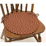 """Set of 4 Brown Braided Chair Pads with Ties Simple Circle Chair Cushions Pads Round Shaped Patios Dining Room Seat Pad Reversible Country Rustic Farmhouse Table Decor Soft Synthetic Fiber, 15""""x15"""""""